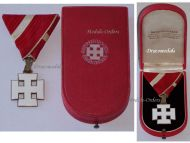 Austria Decoration Merit Austrian 1st Republic Silver Cross VII Class Civil Military Medal 1922 1938 Boxed by Reitterer