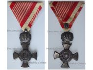 Austria Hungary WW1 Iron Cross for Merit with Crown 1916 in Iron