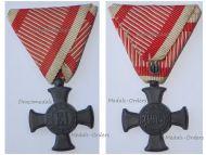 Austria Hungary WW1 Iron Cross for Merit 1916 in Zinc