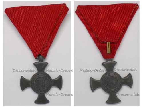 Austria Hungary WW1 Iron Cross for Merit 1916 in Zinc