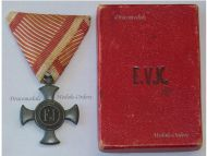 Austria Hungary WW1 Iron Cross for Merit 1916 Boxed by Gyorffy-Wolf Metallwarenfabriks in Zinc