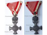 Austria Hungary WW1 Iron Cross for Merit with Crown 1916 in Zinc