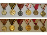 Austria Hungary WW1 Karl's Cross Tapferkeit 1873 Jubilee 1898 1908 Military Medals set Kaiser FJ KuK Austrian