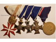 Austria Decoration Merit Gold Cross Long Service 25 years Military Medals set Award 2nd Austrian Republic