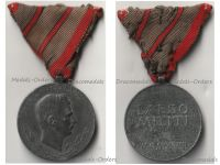 Austria Hungary WW1 Wound Medal Laeso Militi for 2 Wounds Marked W&A