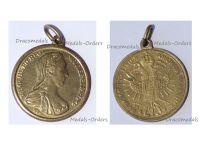 Austria Hungary WW1 Empress Maria Theresia Patriotic Pendant Signed S.F.