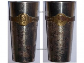 Germany Austria WW1 Kaiser Wilhelm FJ patriotic Cup Officers Goblet WWI KuK 1914 1915 Great War