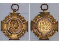 Austria Hungary Diamond Jubilee Cross 60th Anniversary Reign Kaiser Franz Joseph 1848 1908
