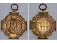 Austria Hungary Diamond Jubilee Cross Kaiser Franz Joseph Military Medal 1848 1908