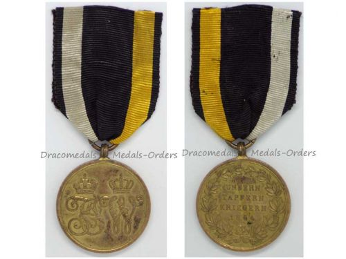 Austria Commemorative Military Medal 2nd Schleswig War vs Denmark 1864 for Combatants Austrian Decoration