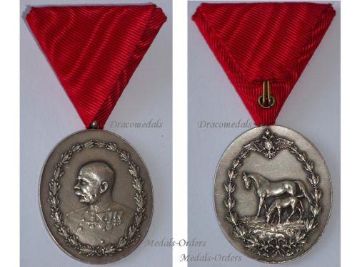 Austria Hungary State Award Cavalry Horse Breeding 1908 Military Medal Kaiser Franz Joseph Austrian KuK Austro Hungarian