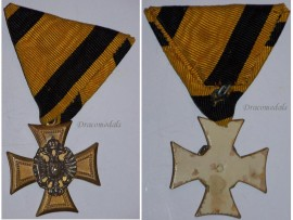 Austria Officer's Cross Military Long Service 1st Class 25 years 1867 1890 Medal Kaiser Franz Joseph FJ KuK Decoration