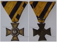 Austria Hungary Cross Military Long Service XII years 2nd Class NCO 1890 1913 Medal Kaiser KuK Decoration