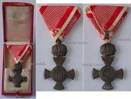 Austria Hungary WW1 Iron Cross Crown KuK Military Medal WWI 1914 1918 Austrian Decoration Boxed Scheid
