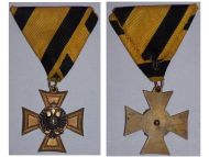 Austria Officer's Cross Military Long Service 1st Class 25 years 1849 1867 Medal Kaiser Franz Joseph FJ KuK Decoration