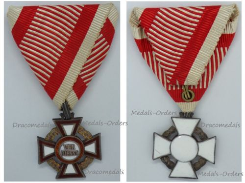 Austria Hungary WW1 Cross of Military Merit III Class Marked by the Vienna Mint & V. Mayers