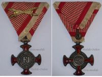 Austria Hungary Silver Merit Cross Viribus Unitis 1849 1917 Military Medal KuK Austro Hungarian Decoration W. Kunz Wien