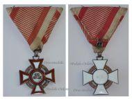 Austria Hungary Cross Military Merit 3rd Class pre WW1 1914 1918 Medal Austrian Kaiser Franz Josepf Maker Marked