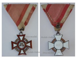 Austria Hungary Cross Military Merit 3rd Class pre WW1 1914 1918 Medal Austrian Kaiser Franz Josepf Maker Marked