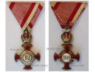 Austria Gold Merit Cross Crown Viribus Unitis 1849 1917 Medal KuK Austro Hungarian Decoration GAS Scheid
