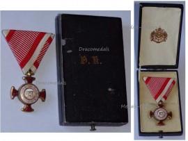 Austria Hungary Gold Merit Cross Viribus Unitis 1849 Military Medal KuK Austro Hungarian Decoration Boxed W. Kunz Wien 1918