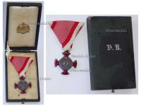 Austria Hungary Silver Merit Cross Viribus Unitis 1849 by Wilhelm Kunz Boxed 1916
