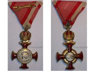 Austria Hungary Gold Merit Cross Crown Viribus Unitis 1849 by Wilhelm Kunz