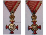 Austria Gold Merit Cross Crown Viribus Unitis 1849 1917 Medal KuK Austro Hungarian Decoration K. Bohm
