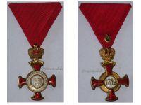 Austria Gold Merit Cross Crown Viribus Unitis 1849 1917 Medal KuK Austro Hungarian Decoration A. E Kochert