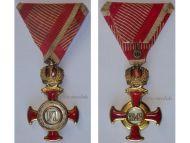 Austria Gold Merit Cross Crown Viribus Unitis 1849 1917 Medal KuK Austro Hungarian Decoration V. Mayers
