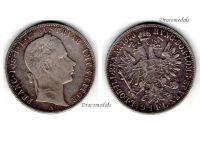 Austria Hungary KuK Florin Guilder Coin 1858 A silver Kaiser Franz I (II) Habsburg Austro Hungarian Empire