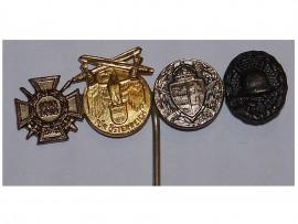 Germany Austria WW1 Commemorative Pro Deo Hungary Hindenburg Cross Black Wound Medals 1914 Mini