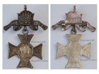 Austria Hungary WW1 Gott Mit Uns Cap Badge 1914 Cross United Kaisers Wilhelm Germany Franz Joseph WWI Great War 1918 KuK Imperial Crown