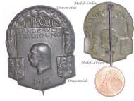 Austria Hungary WW1 Defense Tirol 1915 Cap Badge Kaiser Franz Joseph Great War 1914 1918 Austro Hungarian Empire