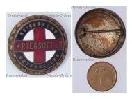 Austria Hungary WW1 War Offer Red Cross Cap Badge 1914 1918