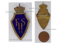 Austria Hungary WW1 KuK 15 FHS 15th Hussar Regiment Cavalry Cap Badge Archduke Franz Salvator 1915