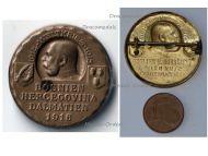 Austria Hungary WW1 Bosnia Herzegovina Dalmatia 1916 Cap Badge by Gurschner