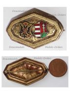 Austria Hungary WW1 Austrian Hungarian United Coat Arms KuK Cap Badge