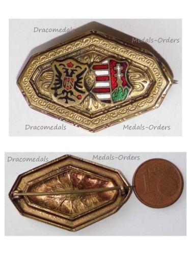 Austria Hungary WW1 Austrian Hungarian United Coat Arms KuK Cap Badge