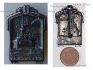 Austria Hungary WW1 KuK Navy Cape Badge SMS Viribus Unitis 1914 1916 by Gurschner
