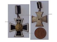 Austria Hungary WW1 Pendant Iron Cross with the Austrian Imperial Crown 1914 Marked W & Gesch