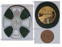 Austria Hungary WW1 Death Kaiser Franz Joseph Patriotic Mourning Porcelain Cap Badge FJ1 Christmas 1916