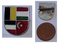 Austria Hungary Germany Ottoman Empire WWI United Empires Flags Cap Badge 1914 KuK Patriotic Pin Central Powers WW1 Great War 1918