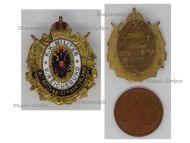 Austria Hungary WW1 KuK Army Veterans League Badge Austro-Hungarian Land Forces by Zimbler Buttonhole MINI