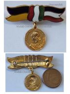 Austria Hungary WW1 Kaiser Franz Joseph Patriotic Badge German Austrian Hungarian Colors Ladies Bow Tie Great War 1914 1918