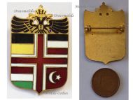 Austria Hungary WW1 Central Powers Flags Double Headed Eagle Cap Badge Shield
