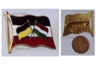 Austria Hungary WW1 Central Powers Flags Cap Badge Marked Ges Gesch