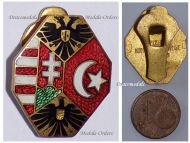 Austria Hungary WW1 Central Powers Flags Imperial Eagles Lapel Pin Badge Marked BS&Co