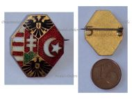 Austria Hungary Germany Ottoman Empire Flags WW1 Cap Badge Double Headed Eagle KuK Patriotic Central Powers Great War 1914 1918