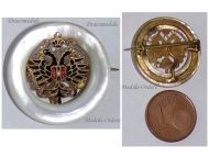 Austria WW1 Double Headed Eagle Cap Badge Mother of Pearl KuK Patriotic Pin Austrian WWI Decoration Great War 1914 1918